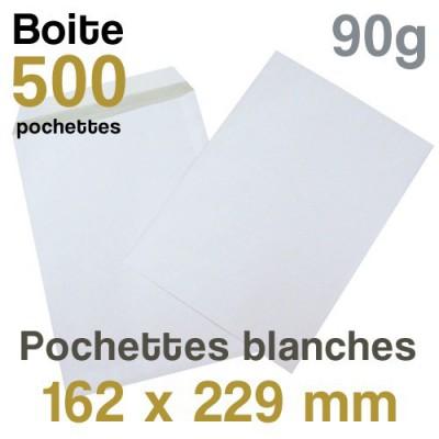 Pochettes Blanches - 162 x 229 mm - 90g