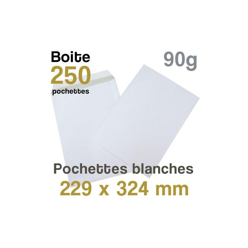 Pochettes Blanches - 229 x 324 mm - 90g
