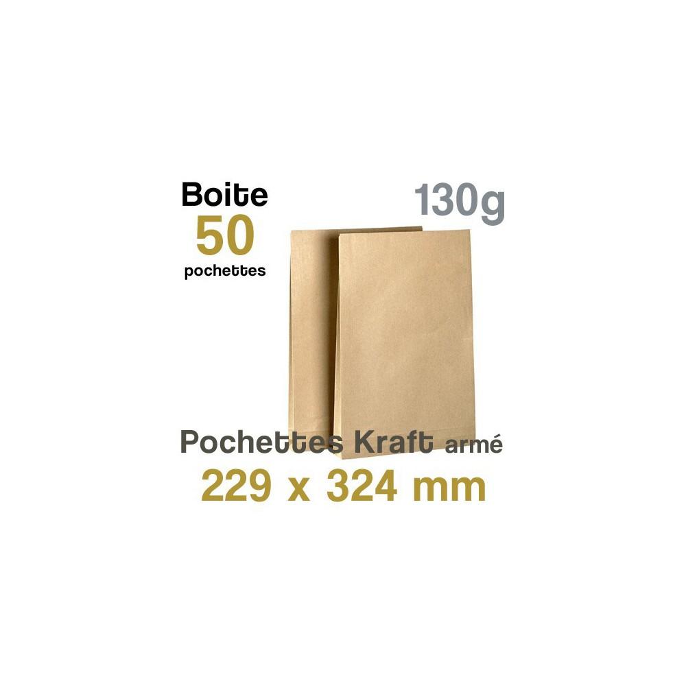 Pochettes Kraft armé - 229 x 324 mm - 130g
