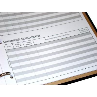 Registre des Associés pour Société Civile 100 pages Luxe