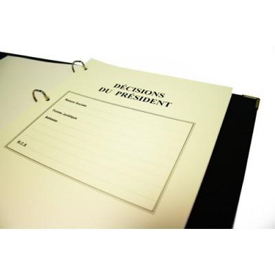 Registre Décisions du Président 100 pages Prestige