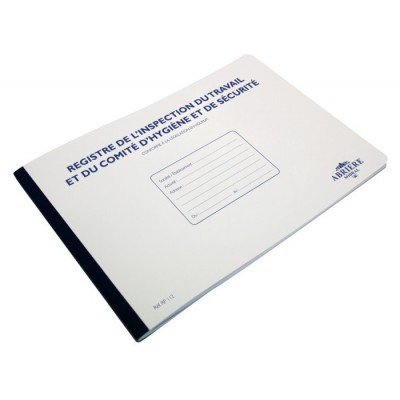 Registre de l'inspection du travail et du comité d'hygiène et de sécurité