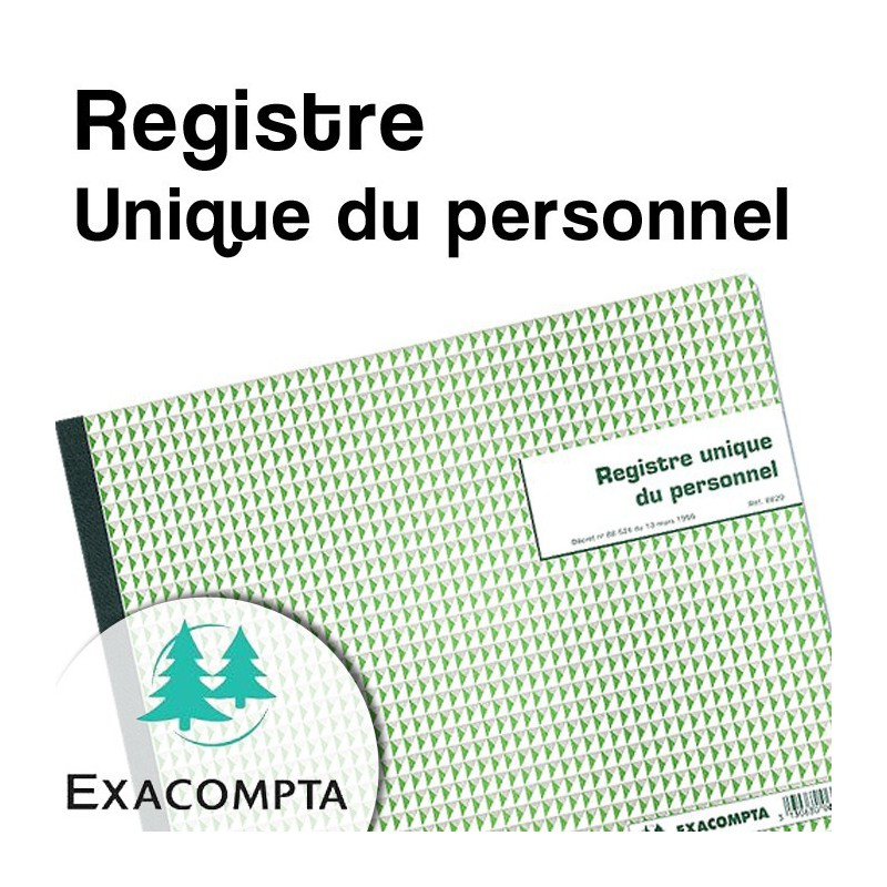 Registre Unique du personnel - Exacompta