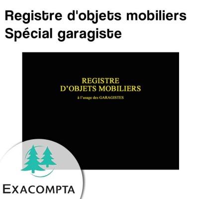 Registre d'objets mobiliers spécial garagiste - Exacompta