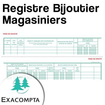 Registre Bijoutier : Magasiniers - Livre de police pour métaux précieux - Exacompta