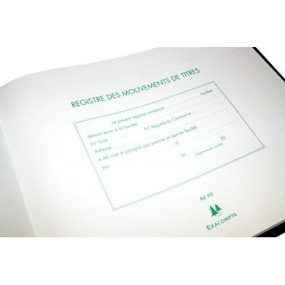Registre Mouvements de Titres - Exacompta
