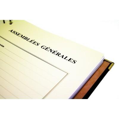 Registres Assemblées Générales 100 pages Luxe