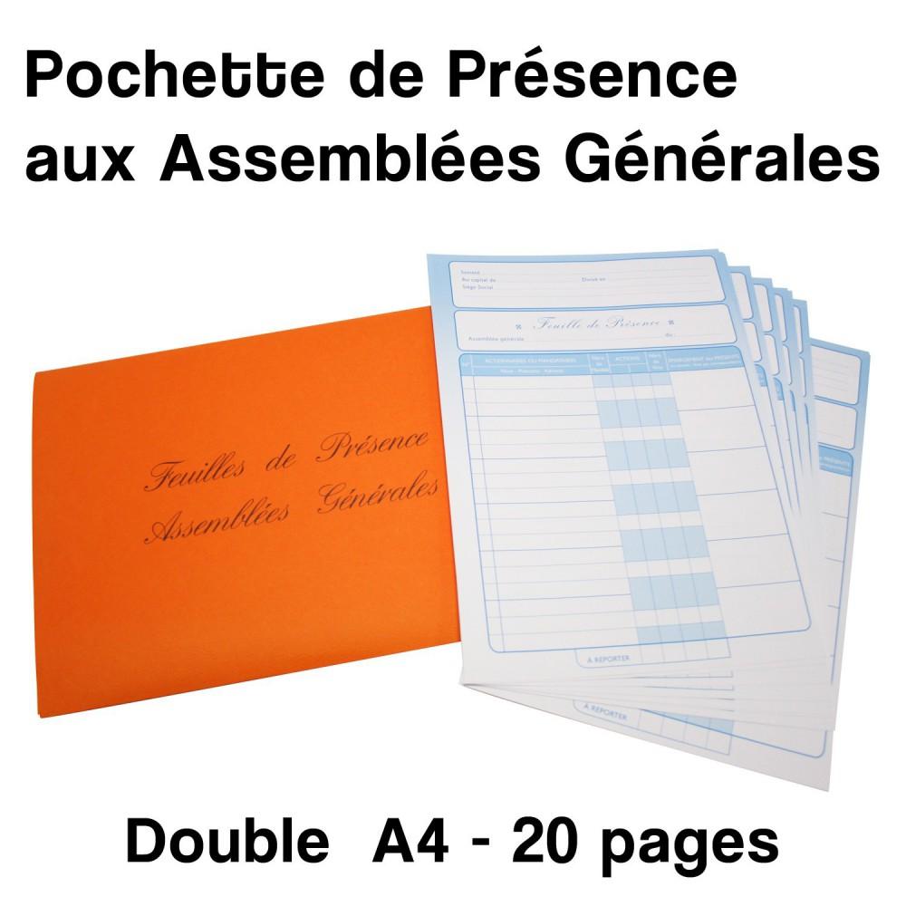 Pochette de Présence aux Assemblées Générales