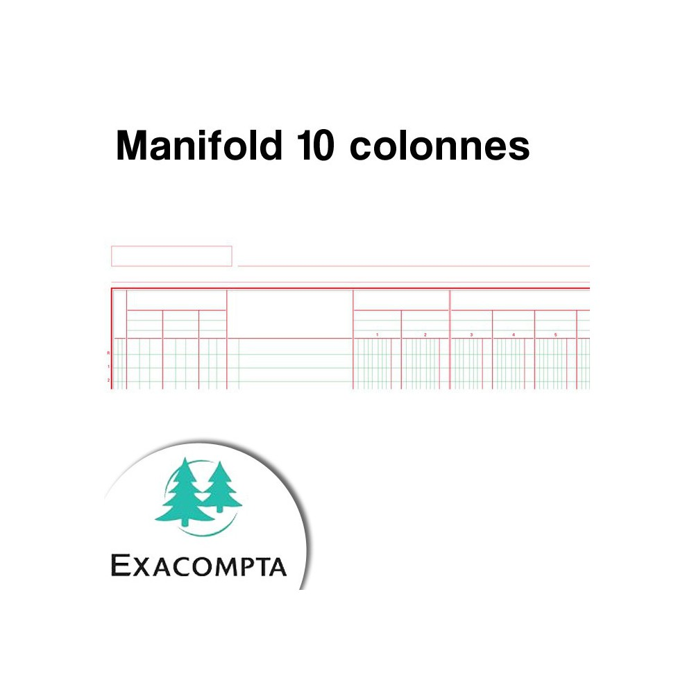 Manifold 10 colonnes - Exacompta