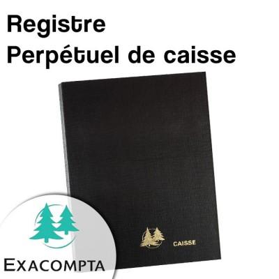 Registre perpétuel de caisse - Exacompta