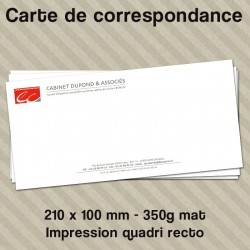 Carte de correspondance personnalisée