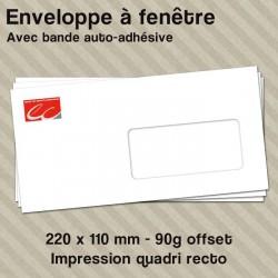 Enveloppe à fenêtre personnalisée