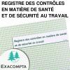 Registre contrôle sécurité - Exacompta