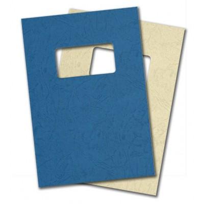 Carton Grain Cuir + fenêtre 50x100 mm - 230 g - Paquet de 100 plats de couverture