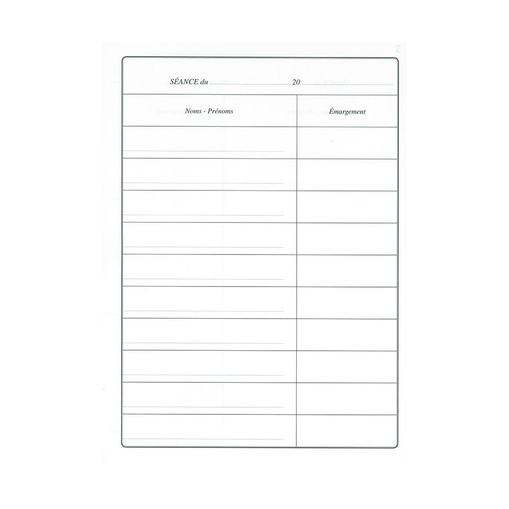 Recharges 50 pages pour Registre de Présence