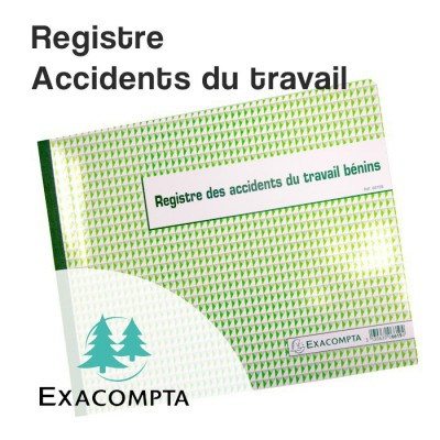Registre des accidents du travail bénins - Exacompta