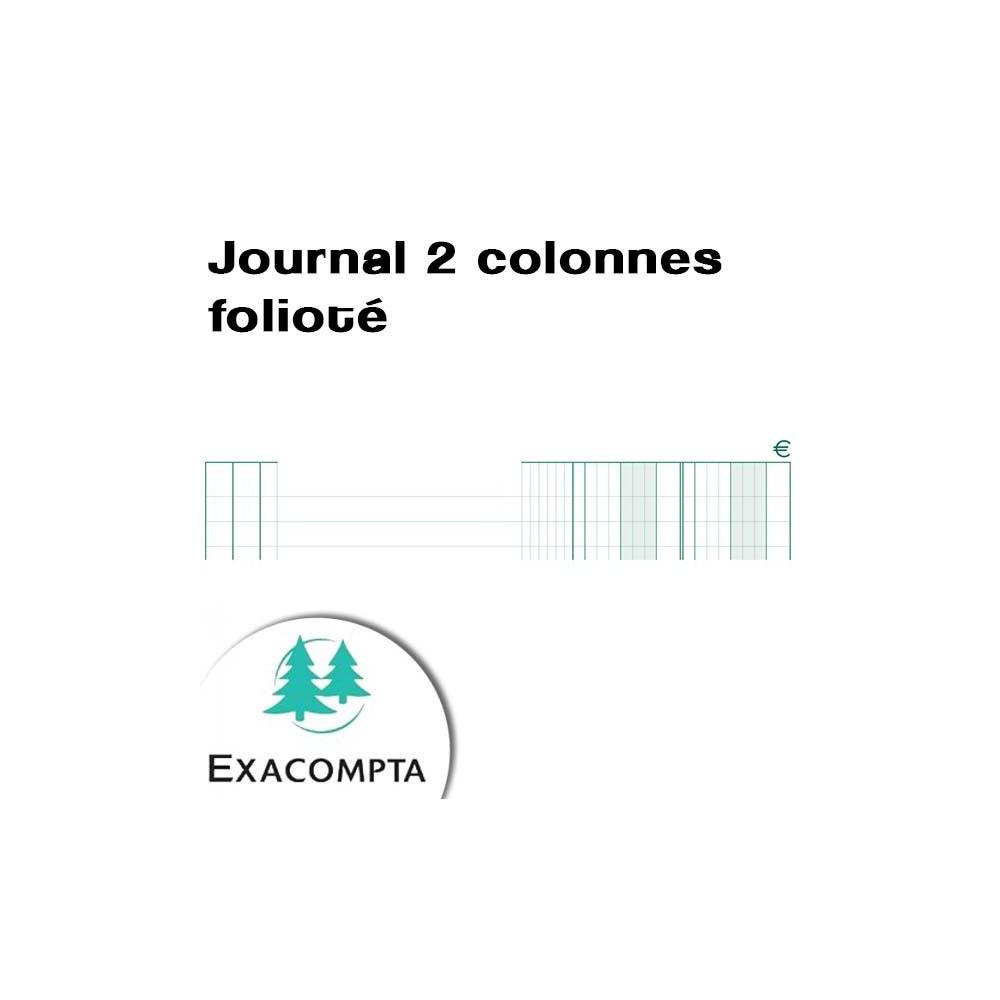 Journal 2 colonnes folioté - 7600 -