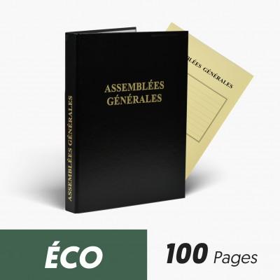 Registres Assemblées Générales 100 pages Eco