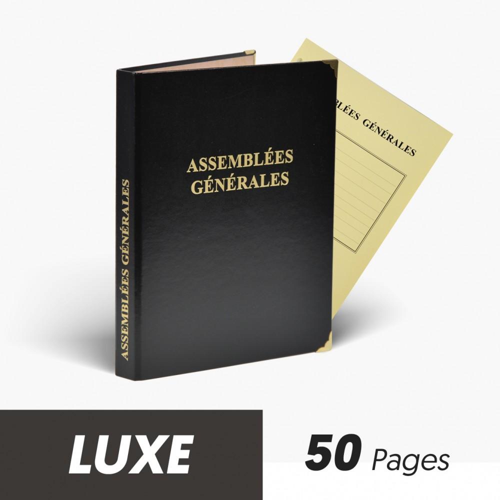 Registres Assemblées Générales 50 pages Luxe