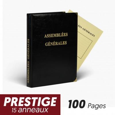 Registre Assemblées Générales 100 pages Prestige 15 anneaux