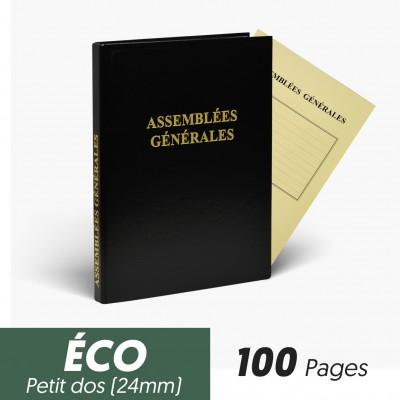 Registres Assemblées Générales 100 pages Eco Petit Dos