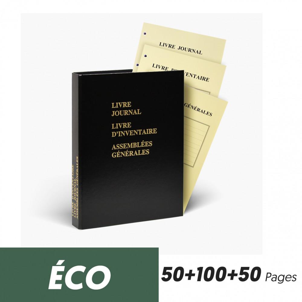 Registres Triples Journal 50 pages + Inventaire 100 pages + Assemblée Générales 50 pages Eco