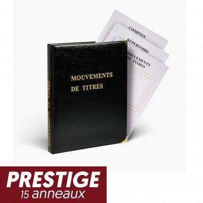 Registre Mouvements de titres Prestige 15 anneaux