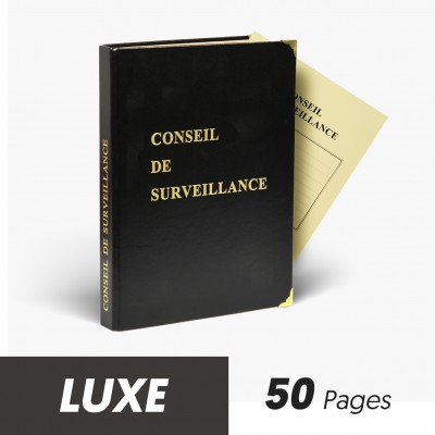 Registres Conseils de Surveillance 50 pages Luxe