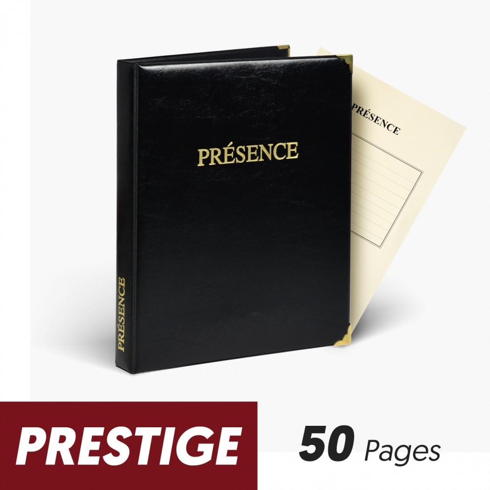 Registre de Présence 50 pages Prestige