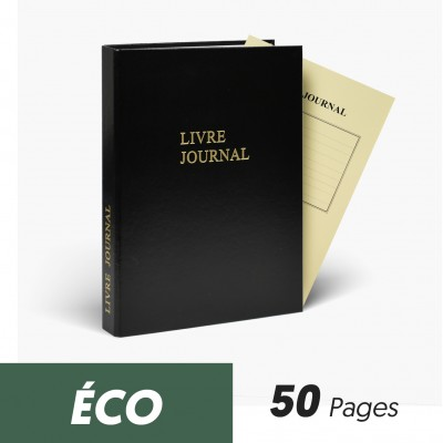 Registres Livre Journal 50 pages Eco