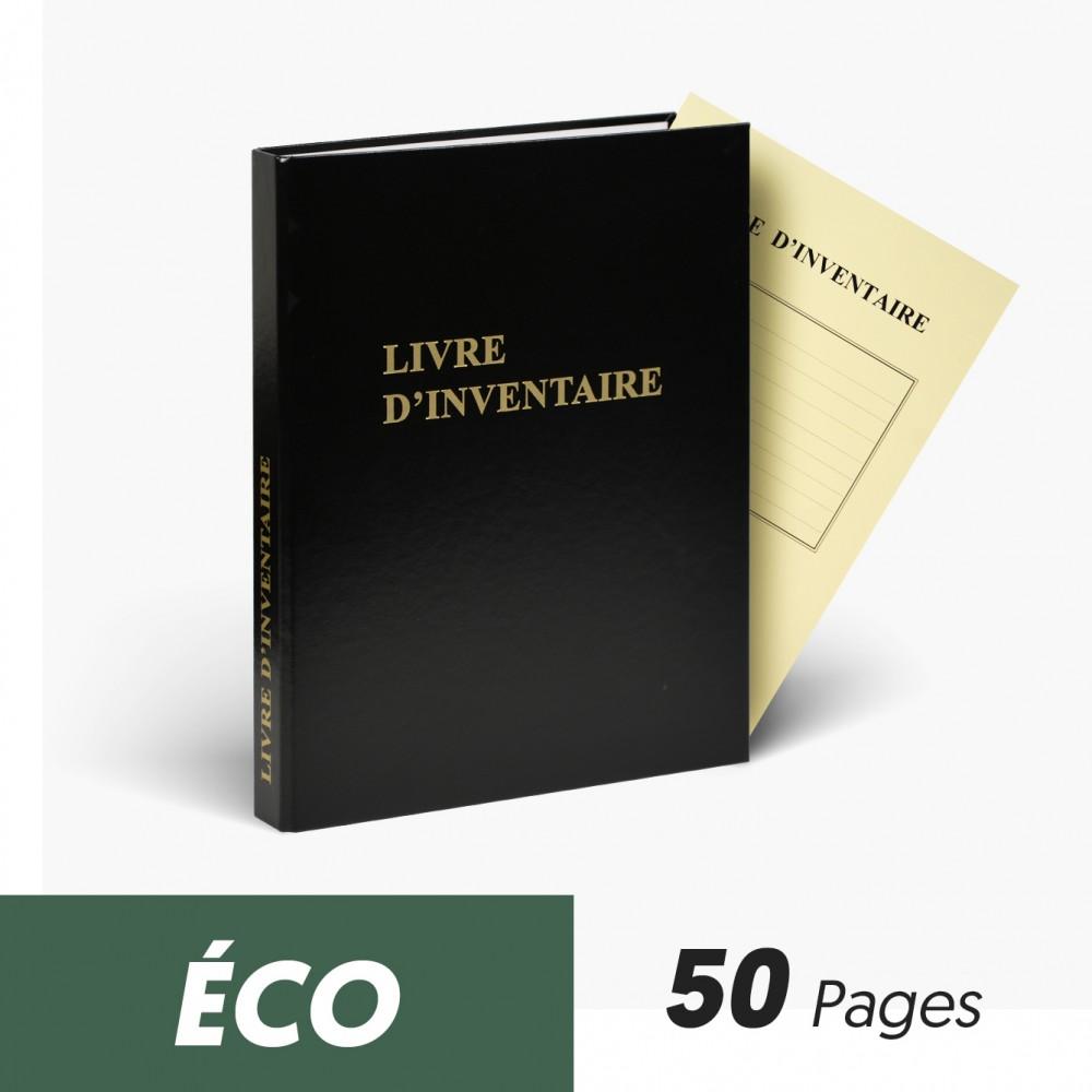 Registres Livre d'Inventaire 50 pages Eco