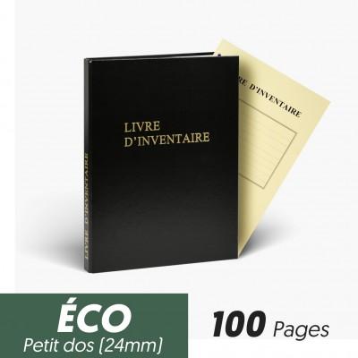 Registres Livre d'Inventaire 100 pages Eco Petit Dos