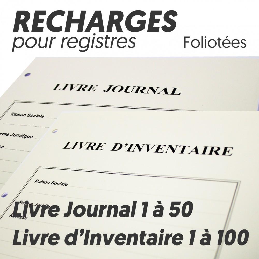 Recharges Pour Livre Journal Livre Inventaire