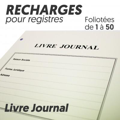 Recharges pour Registres 50 pages - Livre Journal