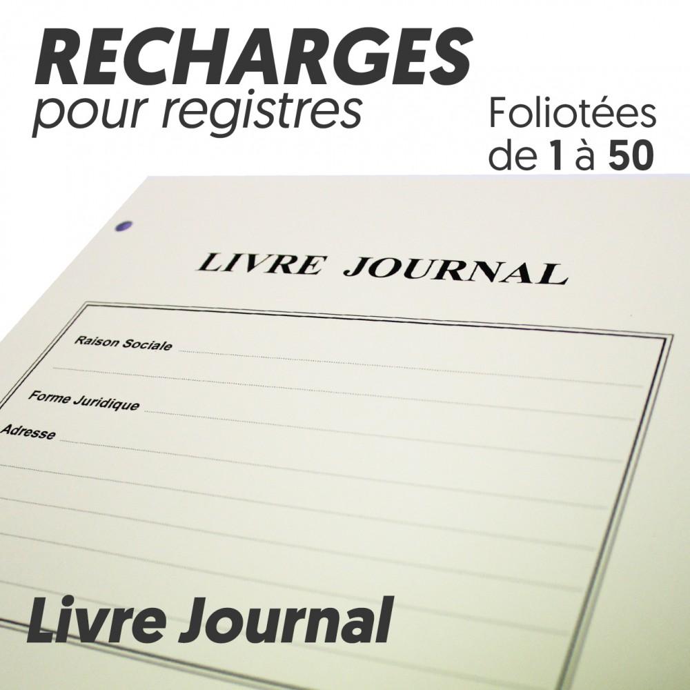 Recharges Pour Registres 50 Pages Livre Journal