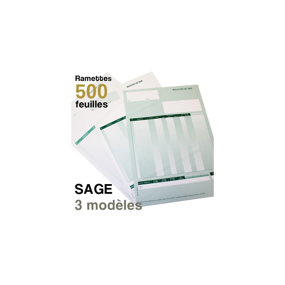 Bulletins de paie - SAGE - Ramettes de 500 feuilles