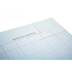 Note de Contrôle - 6 colonnes rayés - 5 Blocs de 100 Feuilles