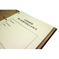 Registres Conseil de Surveillance 100 pages Luxe