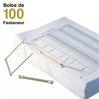 Fasteneur - Entraxe de 8 cm - Boite de 100 Fasteneur beige