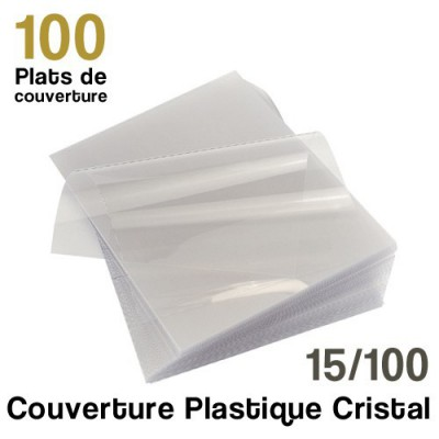 Couverture plastique cristal - 15/100 - Paquet de 100 couvertures