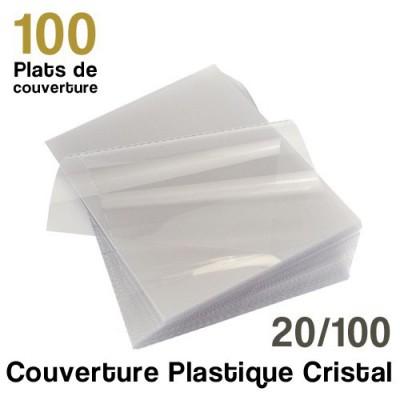 Couverture plastique cristal - 20/100 - Paquet de 100 plats de couvertures